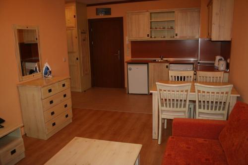 Кухня или кухненски бокс в Свети Иван Ски Апартаменти