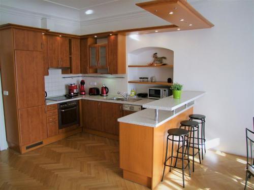 Küche/Küchenzeile in der Unterkunft Charles Bridge Suites