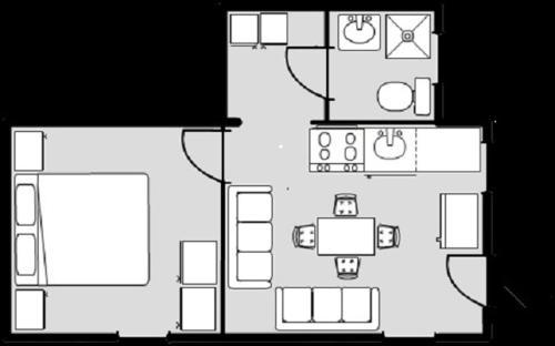 Planul etajului la Apartment Komac