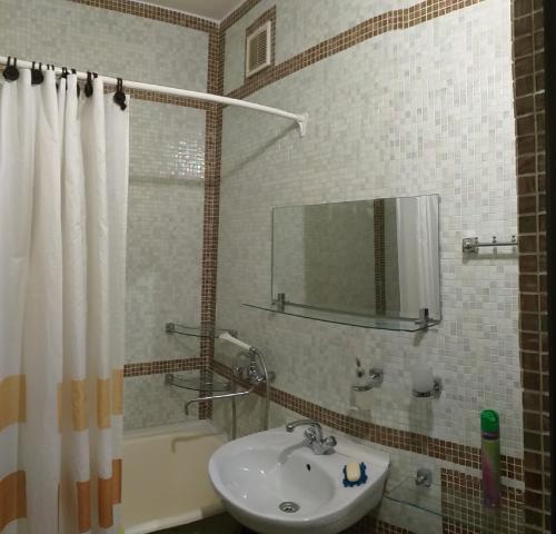 A bathroom at Квартира на Московском шоссе, 35