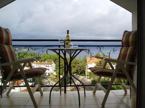 A balcony or terrace at Apartments Villa Elizabet