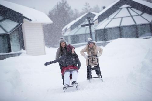 Santa's Igloos Arctic Circle during the winter