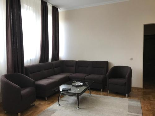 A seating area at Motel Sofiivka