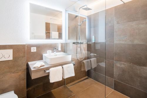 Ein Badezimmer in der Unterkunft Hotel Al Ponte