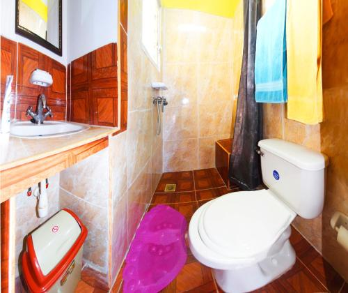 A bathroom at Hostal Nelba & Carlos