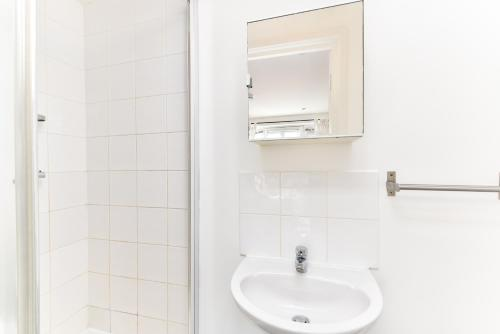 A bathroom at City View House