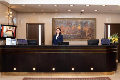 The lobby or reception area at Kolomna Hotel