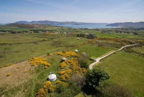 A bird's-eye view of Portsalon Luxury Camping