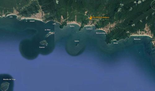 Uma vista aérea de Abelhinhas Residencial Camburi Pousada