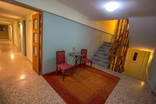 A seating area at Hotel Limenari