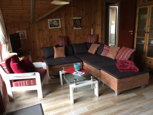 Ein Sitzbereich in der Unterkunft Ferienhaus Gartow