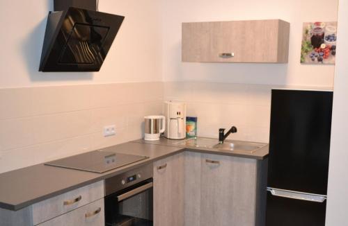 Küche/Küchenzeile in der Unterkunft Ferienwohnung Krone