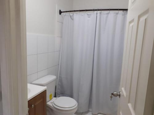 A bathroom at ICG Apartments