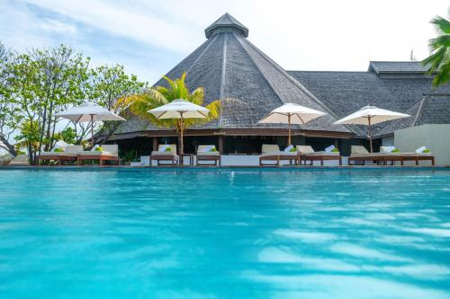 The swimming pool at or near Denis Private Island Seychelles