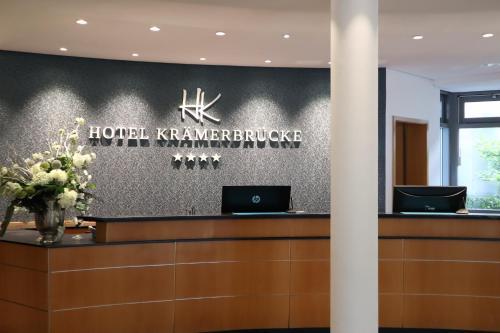 The lobby or reception area at Hotel Krämerbrücke Erfurt