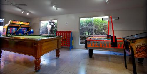 A pool table at BIG4 Apollo Bay Pisces Holiday Park