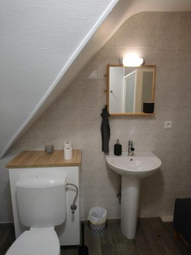 Salle de bains dans l'établissement Chambre du Relais