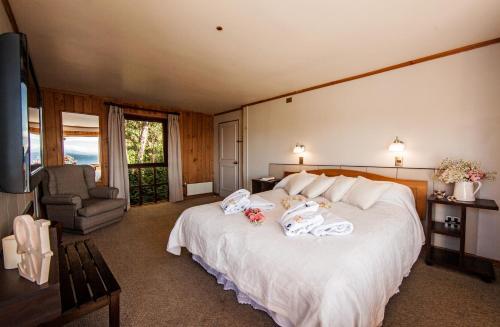 Cama o camas de una habitación en Hotel Elun