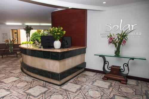 The lobby or reception area at Hotel Casa Laureles