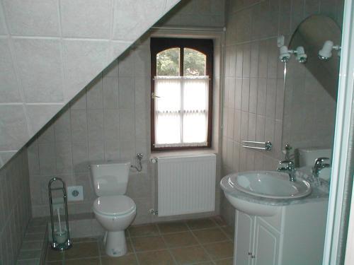 A bathroom at Nádas Panzió