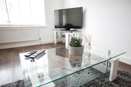 A television and/or entertainment center at Vale House