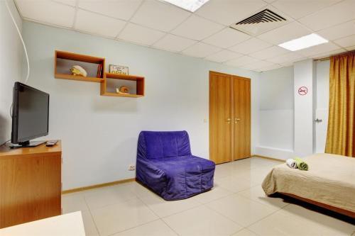 A seating area at Brusnika Hotel Nagornaya