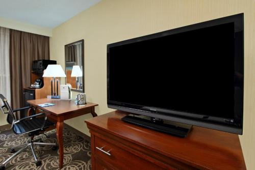 A television and/or entertainment center at DoubleTree by Hilton Mahwah
