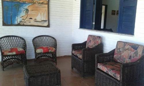 A seating area at Casa Taíba Grande