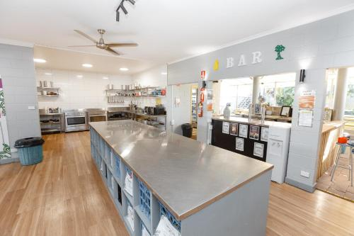 A kitchen or kitchenette at Mad Monkey Backpackers Village