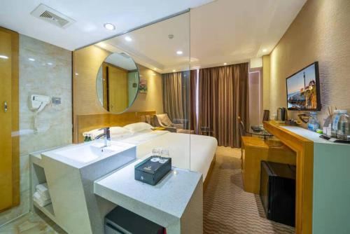 A bathroom at Slowcom┃Yuebei Hotel (Guangzhou Provincial Government)