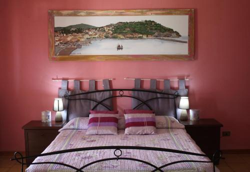 Letto o letti in una camera di Aethalia Bed and Breakfast