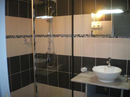 Salle de bains dans l'établissement Chambres d'hôtes Boudeau