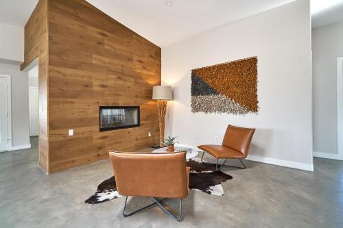 A television and/or entertainment center at Eclectic Joshua Tree