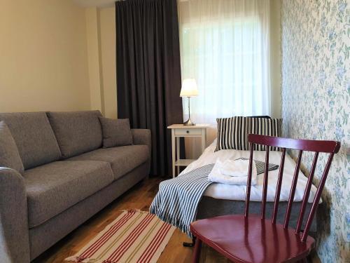 Säng eller sängar i ett rum på Ödevata Gårdshotell