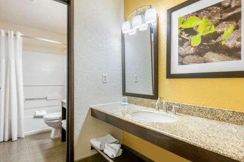 A bathroom at Quality Inn Leesburg Chain of Lakes