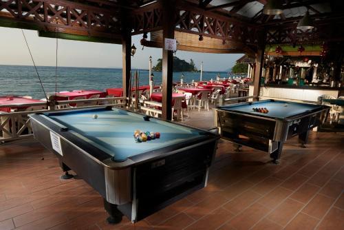 A pool table at Paya Beach Spa & Dive Resort