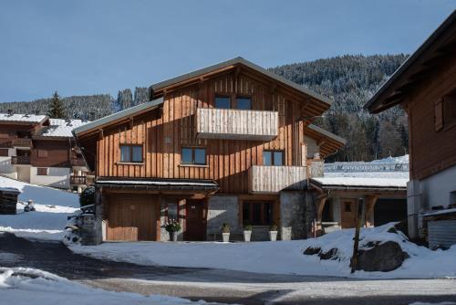 Chalet 4M Les Carroz et son Spa during the winter
