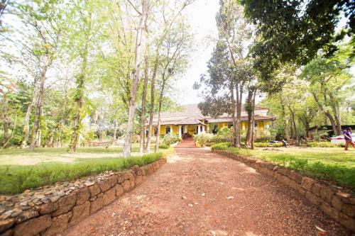 A garden outside Arco Iris Homestay