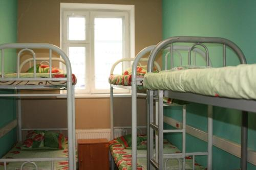 A bunk bed or bunk beds in a room at HotelHot Sheremetyevo