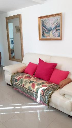 A seating area at Apartment with one bedroom in Paray-Vieille-Poste, with terrace and WiFi
