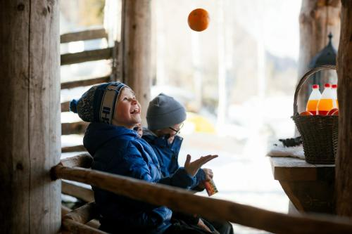 Children staying at Fagernes Camping