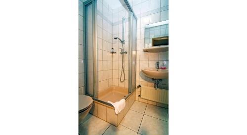 A bathroom at Zewener Hof - Garni