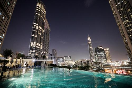 The swimming pool at or near Sofitel Dubai Downtown