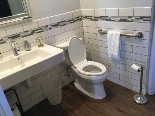 A bathroom at The Ocean Bay House
