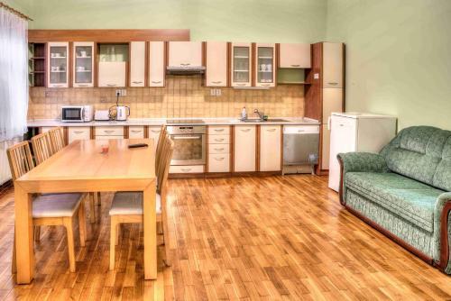 Kuchyň nebo kuchyňský kout v ubytování Apartmány pod Divadlem