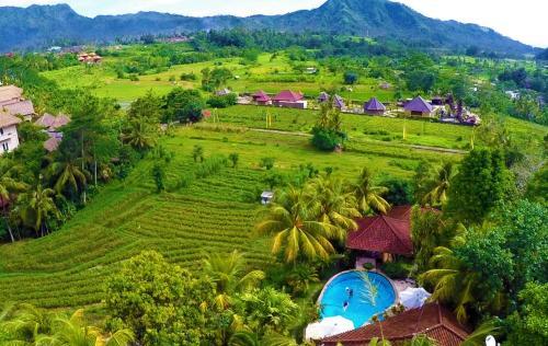 A bird's-eye view of Cepik Villa Sidemen