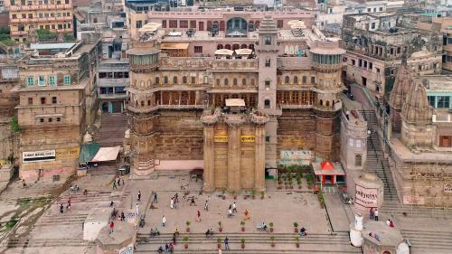 A bird's-eye view of BrijRama Palace- A Heritage Hotel