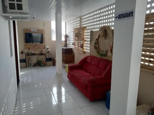 A seating area at Pousada Trairi