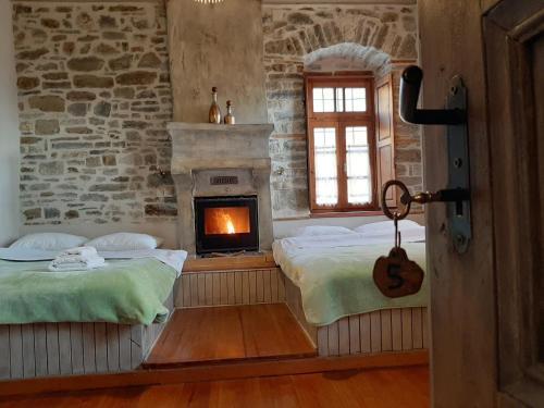 Ένα ή περισσότερα κρεβάτια σε δωμάτιο στο Lichovo