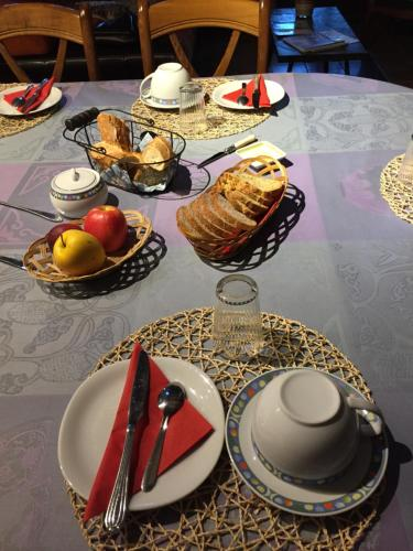 Breakfast options available to guests at La Coraline
